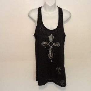 """Vocal muscle tank Bling( sz. Small Aprox. 17"""" p-p"""